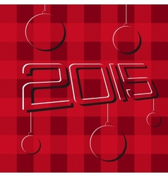 2015 Merry Christmas and Happy New Year Flyers vector image