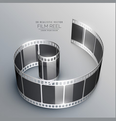 3d film strip background vector image