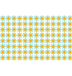 A pattern of colored triangles on a white vector