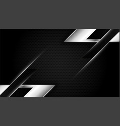 Abstract black and silver wallpaper with vector