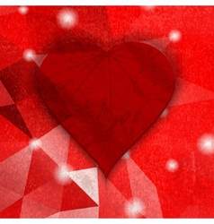 abstract Dark grunge heart Vintage background vector image