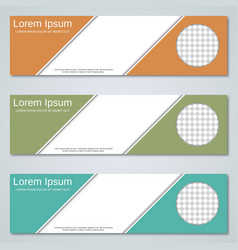 abstract geometric banners design templates vector image