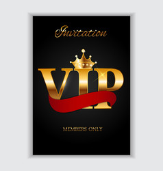 Abstract luxury vip members only invitation vector