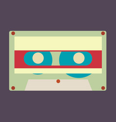 Audio tape vector