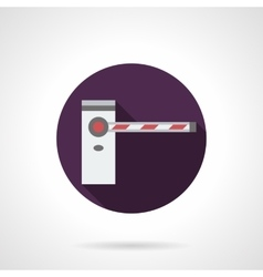 Barrier purple round flat icon vector image