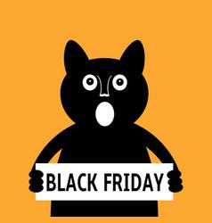 black cat calls for black friday sale vector image