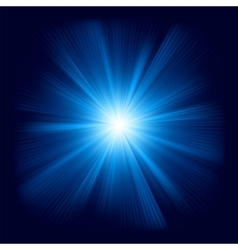 Blue star burst vector image