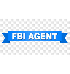 Blue tape with fbi agent caption vector