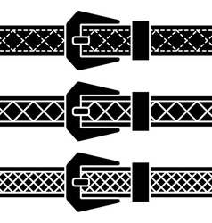 buckle belt black symbols vector image