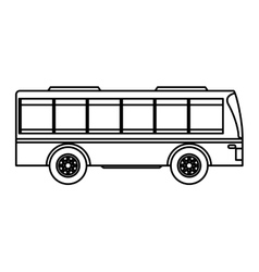 bus transport public icon vector image