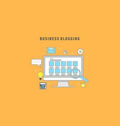 business blogging commercial blog posting logo vector image