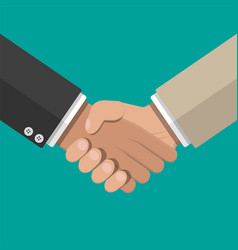 businessman handshake shaking hands vector image