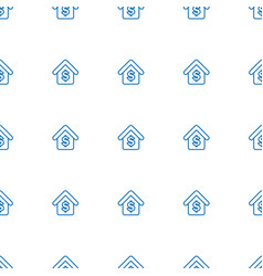 buying a house icon pattern seamless white vector image