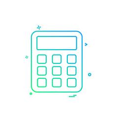 calculator icon design vector image