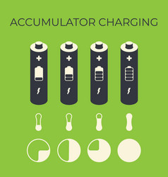 Charging status of battery element for infographic vector