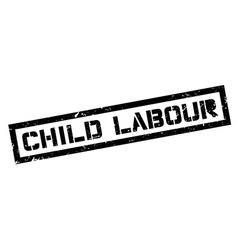 Child Labour rubber stamp vector