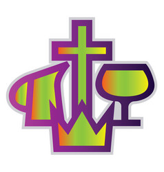 colorful christian missionary aliance symbol on a vector image