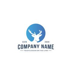 Colorful deer head design logo vector