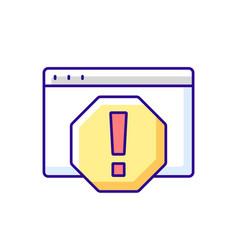 Computer error rgb color icon vector