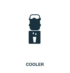 cooler icon line style icon design ui vector image