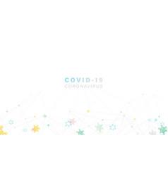 coronavirus 2019-ncov concept abstract polygonal vector image