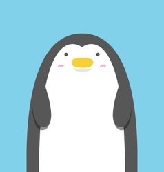 cute big fat penguin vector image