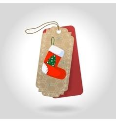cute Christmas gift tags with christmas vector image