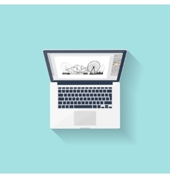 Digital drawing Personal computer laptop vector image