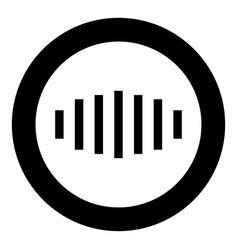 digital signal black icon in circle isolated vector image