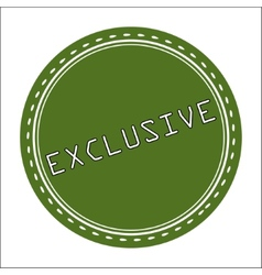 Exclusive Icon Badge Label or Sticke vector image