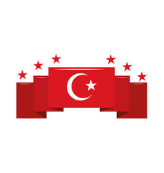 Flag national turkey vector
