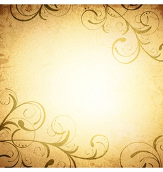 Floral Vintage Grunge Background vector