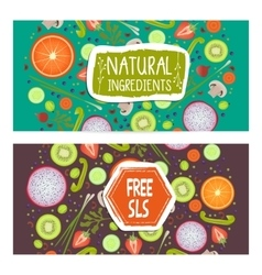 Free sls horizontal flyers set vector