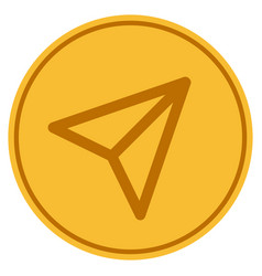 freelance paper plane gold coin vector image
