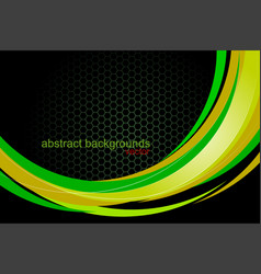Glossy green curved vector