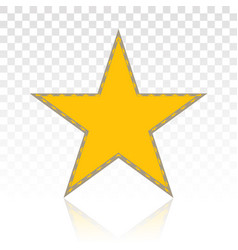 Gold star shape or favorite icons flat icon vector