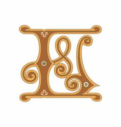 golden letter l vector image