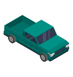 Green pickup icon isometric style vector