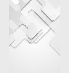 grey abstract tech geometric papercut background vector image