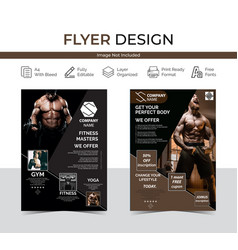 Gym flyer image vector