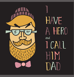 hero dad two vector image