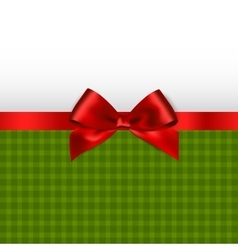 Holiday background with red bow vector