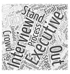 How To Stand Out In The Jobs Crowd Word Cloud vector