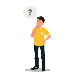 man is thinking question mark vector image