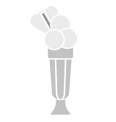 Milk cocktail simple art geometric vector