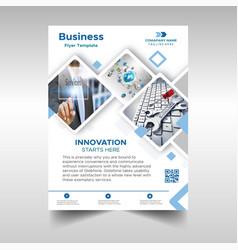 Mosaic business flyer design template vector