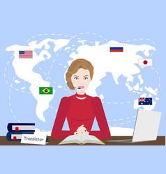 multi language translator concept vector image