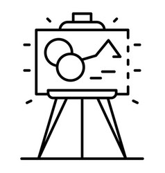 museum picture icon outline style vector image