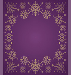 new year background card with snowflake purple vector image