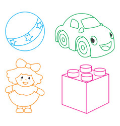 Of coloring page vector